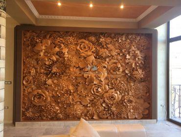 Panou floral 3D