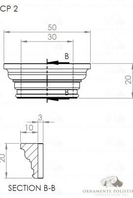 Capitel pilastru interior 02